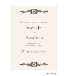 Elegant Scroll Save The Date