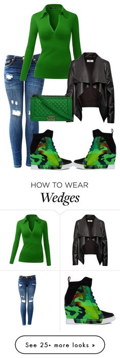 """Untitled #1652"" by styledbycharlieb on Polyvore featuring HIDE, Privileged by J.C. Dossier and Chanel"