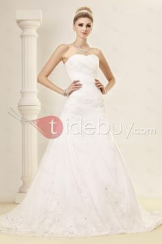 Elegant Trumpet/Mermaid Sweetheart Chapel Lace Dasha's Bridal Gown