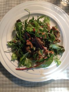 Aziatische geïnspireerde kalkoensalade met salade