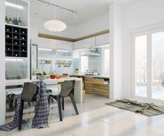 Bright Open Kitchen Interior Design Chic Contemporary Spaces