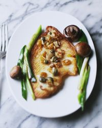 Golden Flounder with Caper-Almond Dressing Recipe on Food & Wine