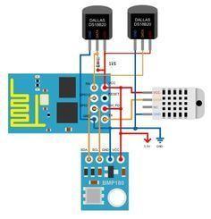 Using the 4 pins of the – Arduino, & Raspberry Pi stuff Wifi Arduino, Esp8266 Arduino, Esp8266 Projects, Iot Projects, Cool Electronics, Electronics Projects, Electronics Storage, Tech Gadgets, Cool Gadgets