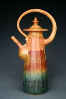 Faceted Teapot by Earthsea Pottery, via Flickr