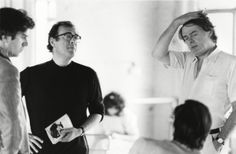 Harold Pinter and Simon Gray rehearsing The Common Pursuit