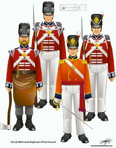 The Battle of Waterloo 18th June 1815 - 2nd (Coldstream) Regiment of Foot Guards.