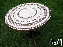 Nábytok - Mozaikový stolík Elegance (predaný) - 2542764