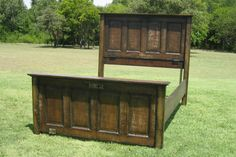 """Unique bed created from old doors....""""outstanding in it's field""""...sorry couldn't resist..."""