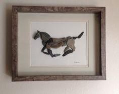 Galloping Horse Pebble Art
