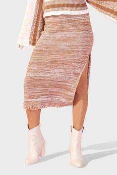 Γυναικεία Φούστα Minkpink - Yvonne Fringe Knit Midi Minkpink, Ballet Skirt, Knitting, Skirts, Fashion, Moda, Tutu, Tricot, Breien