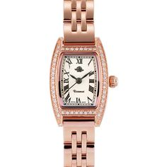 Rosemont Miniature Rose Series Square Watch, Rolex Watches, Miniatures, Rose, Accessories, Switzerland, Watches, Pink, Roses