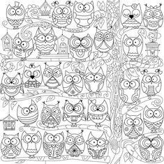 Welcome to Owl hollow: Раскраски-антистресс для взрослых