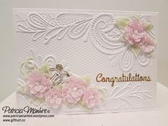 Kia Ora and Welcome Back Today I would like to share a card that I have just completed.  I have just got in the new 3D embossing folders from Crafter's Companion and I love this embossing fol…