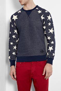 Vivienne Westwood Anglomania -   Indigo Marl Star Athletic Sweat Shirt