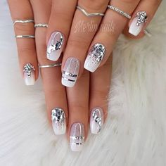 Makeup Nails Designs Makeup Nails Designs Manicure nude beige glitter, taupe nail women nail art natural Source with Unique Fashion Nails Picture Credit Acrylic Nail Designs, Nail Art Designs, Glitter Nail Designs, Silver Nail Designs, Square Nail Designs, Nail Designs Pictures, Taupe Nails, Leopard Nails, Cute Summer Nail Designs