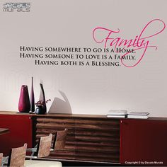 Wall decals FAMILY IS A BLESSING Vinyl lettering by decalsmurals, $27.00