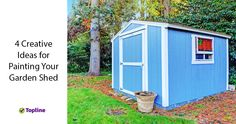 Creative ideas for painting your garden shed