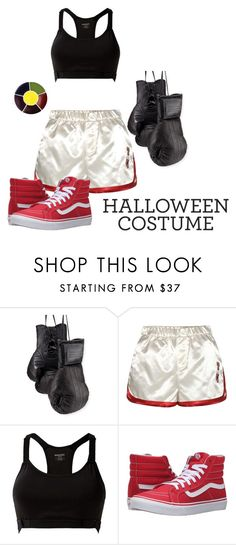 """Boxer Costume"" by carlyamanda58 ❤ liked on Polyvore featuring Elisabeth Weinstock, Tommy Hilfiger, MANGO, Vans, halloweencostume and DIYHalloween"