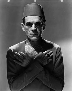 "Boris Karloff in ""The Mummy"" (1932)."