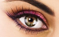 pink and gold eye make up #eyes #makeup #eyeshadow