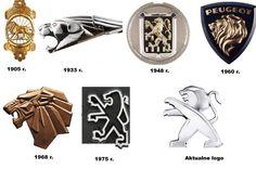 Choć Peugeot jest wierny symbolowi lwa w swoim logo, to znak graficzny firmy na przestrzeni lat mocno ewoluował. Począwszy od 1859 r. król zwierząt pojawiał się w każdym logo, czasem w całej postaci, czasem użyczał jedynie głowy do reprezentowania firmy.