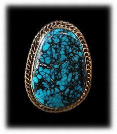 Blue Wind Spiderweb Turquoise Ring