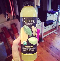 o2living Fresh Start organic cold-pressed juice