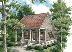The small cottage house plans featured here range in size from just over 500 square feet to nearly square feet. Though small in size, they are BIG on charm! Small Cottage House Plans, Small Cottage Homes, Small Cottages, Cottage Plan, Cabins And Cottages, Country House Plans, Small House Plans, House Floor Plans, Small Houses
