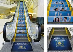 Stupendous Steps: 15 Great Escalator & Stair Ambient Ads Photo
