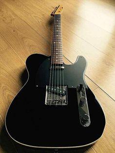 Fender Telecaster Black, Telecaster Guitar, Fender Guitars, Unique Guitars, Vintage Guitars, Fender Custom Shop, Guitar Building, Beautiful Guitars, Pedalboard