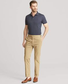 Best Smart Casual Outfits, Cool Outfits For Men, Polo Fashion, Mens Fashion Wear, Business Casual Men, Men Casual, Polo Shirt Outfits, Polo Shirts, Ralph Lauren Custom Fit