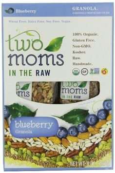 Two Moms in the Raw Blueberry Granola Gluten Free, 8-Ounce - http://sleepychef.com/two-moms-in-the-raw-blueberry-granola-gluten-free-8-ounce/