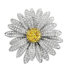 aaron henry jewelry BROOCHES | Aaron Henry diamond daisy brooch | Jewelry Posts on Style 360 Blog