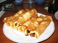 Clatite pufoase Romanian Desserts, Romanian Food, Romanian Recipes, Desert Recipes, Delicious Desserts, Pancakes, Waffles, Cake Recipes, Sausage