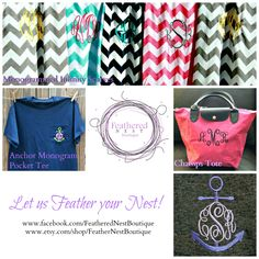 ✴NEW✴ sorority sugar • Feathered Nest Boutique Super Sweet Sorority Summer Giveaway!!! WIN a fab 3-piece prize package: (1) chevron infinity scarf customized with your greek letters or monogram! (1) anchor monogrammed frocket embroidered with your greek letters or monogram! (1) champs tote embroidered with your monogram! ✿ ENTER now to win this PREPPY PERFECT collection: http://www.sororitysugar.tumblr.com/giveaway