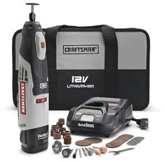 Great for crafters. http://www.geekalerts.com/craftsman-nextec-cordless-lithium-ion-rotary-tool/ Craftsman Nextec Cordless Lithium Ion Rotary Tool