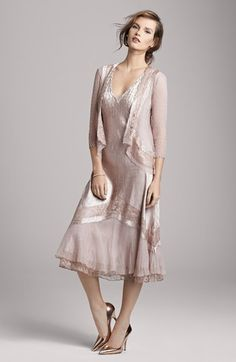 Komarov Dress with Jacket & Accessories  available at #Nordstrom Possible Mother of the Bride Outfit? It might be too close in colour to the bridesmaids though?