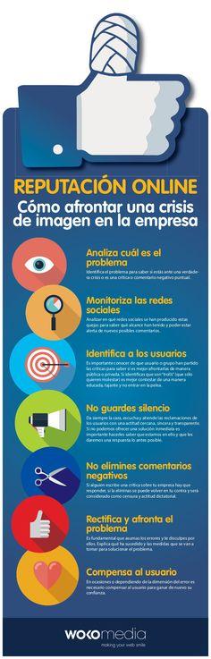 Reputación online: cómo afrontar una crisis de imagen #infografia #infographic #marketing