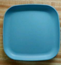 Tupperware square Plate blue 1534-15 #Tupperware & Burlap Natural Placemat Set of 6 Fringed 12x18 | Placemat Burlap ...