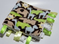 Animal Micro Plush with white minky ribbon by LittleSnapdragon, $20.00