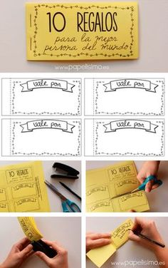 template-checkbook-gifts-voucher-to-print-how-to-do .- plantilla-chequera-regalos-vale-por-para-imprimir-como-hacer-pasos template-checkbook-gifts-voucher-for-print-how-to-do-steps - Homemade Gifts, Diy Gifts, Ideas Aniversario, Idee Diy, Gift Vouchers, Diy Birthday, Love Gifts, Diy Cards, Boyfriend Gifts