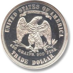 Trade Dollar 1873-1885 Coin Auctions, World Coins, Rare Coins, Coin Collecting, Personalized Items