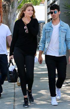 Gigi Hadid et Joe Jonas à Los Angeles en août 2015