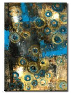 32_KT010_A _ Untitled Abstract / Cuadro Abstracto con Circulos