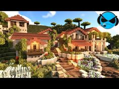 Today I will show you how to build a awesome minecraft Italian village build in a savanna biome. Minecraft House Plans, Minecraft Cottage, Easy Minecraft Houses, Minecraft House Tutorials, Minecraft House Designs, Amazing Minecraft, Minecraft Tutorial, Minecraft Blueprints, Minecraft Crafts