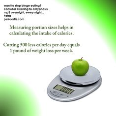 """use a 6"""" plate instead, consider hypnosis mp3's for overnight listening to help stop binge eating and more"""