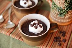 Beer and Chocolate Microwave Mug Cake