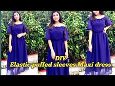 DIY Elastic puffed sleeves square neck and off shoulder maxi dress, summer wear😍malayalam tutorial - YouTube Dress Summer, Summer Wear, Puffed Sleeves, Diy Dress, Churidar, Maxi Dress With Sleeves, Shoulder, Youtube, How To Wear