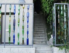 Gorgeous Garden Wall Made From Recycled Bottles