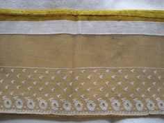 Antique French Net Lace Altar Frontal On Gold Metallic Fabric Backing